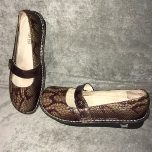Snakeskin pattern Alegria shoes